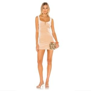 superdown Chiari Plunging Mini Dress in Champagne